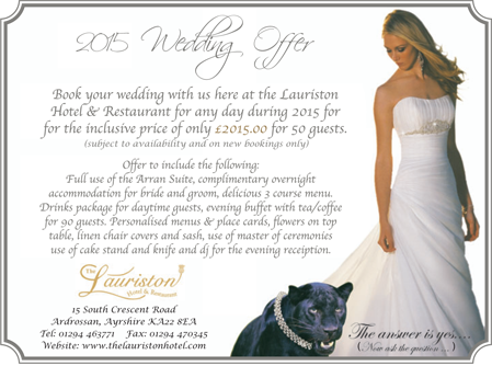 lauriston weddings promo 2015