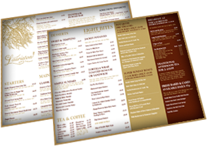 lauriston hotel menu